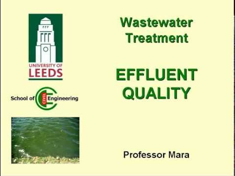 Effluent Quality Requirement for Waste Water Treatment Plants