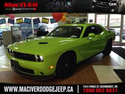 2017 Green Dodge Challenger Super Bee Pack Newmarket Ontario Maciver Jeep You