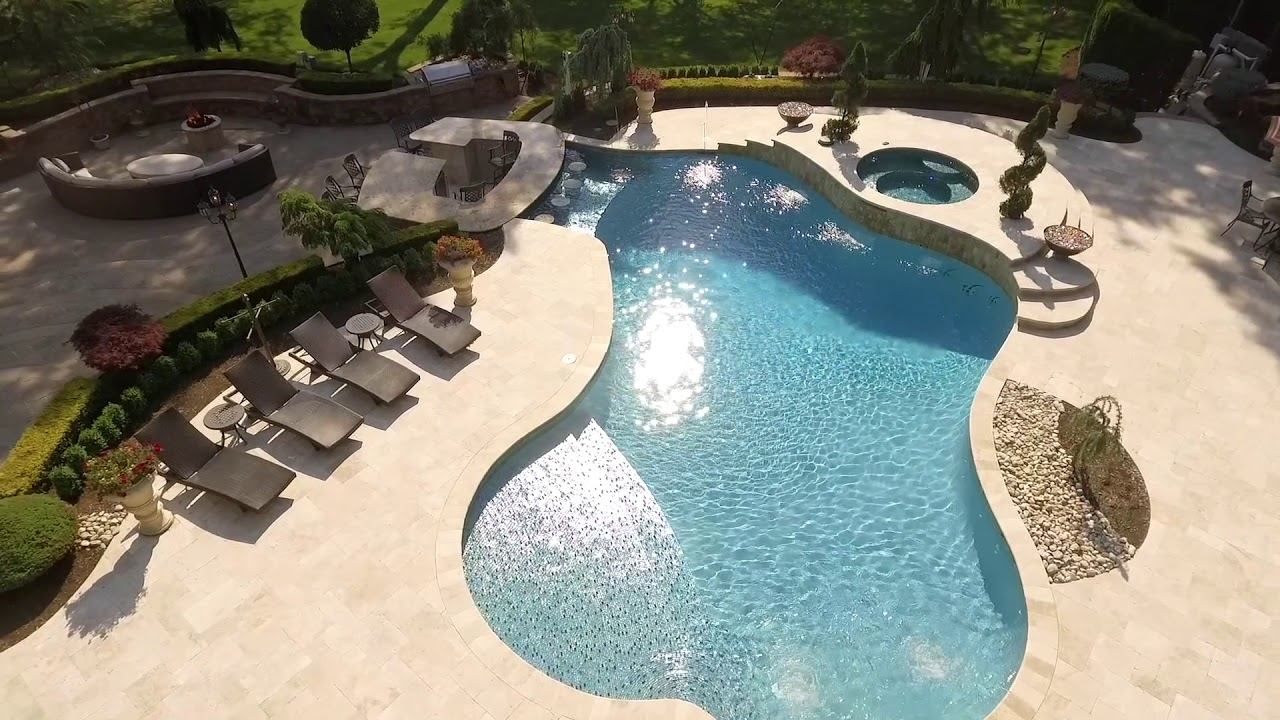 Swimming Pool Designs NJ | Pool/ Backyard designs and Build - YouTube