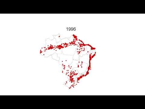 Oil and gas wells in Brazil: 1939-2000