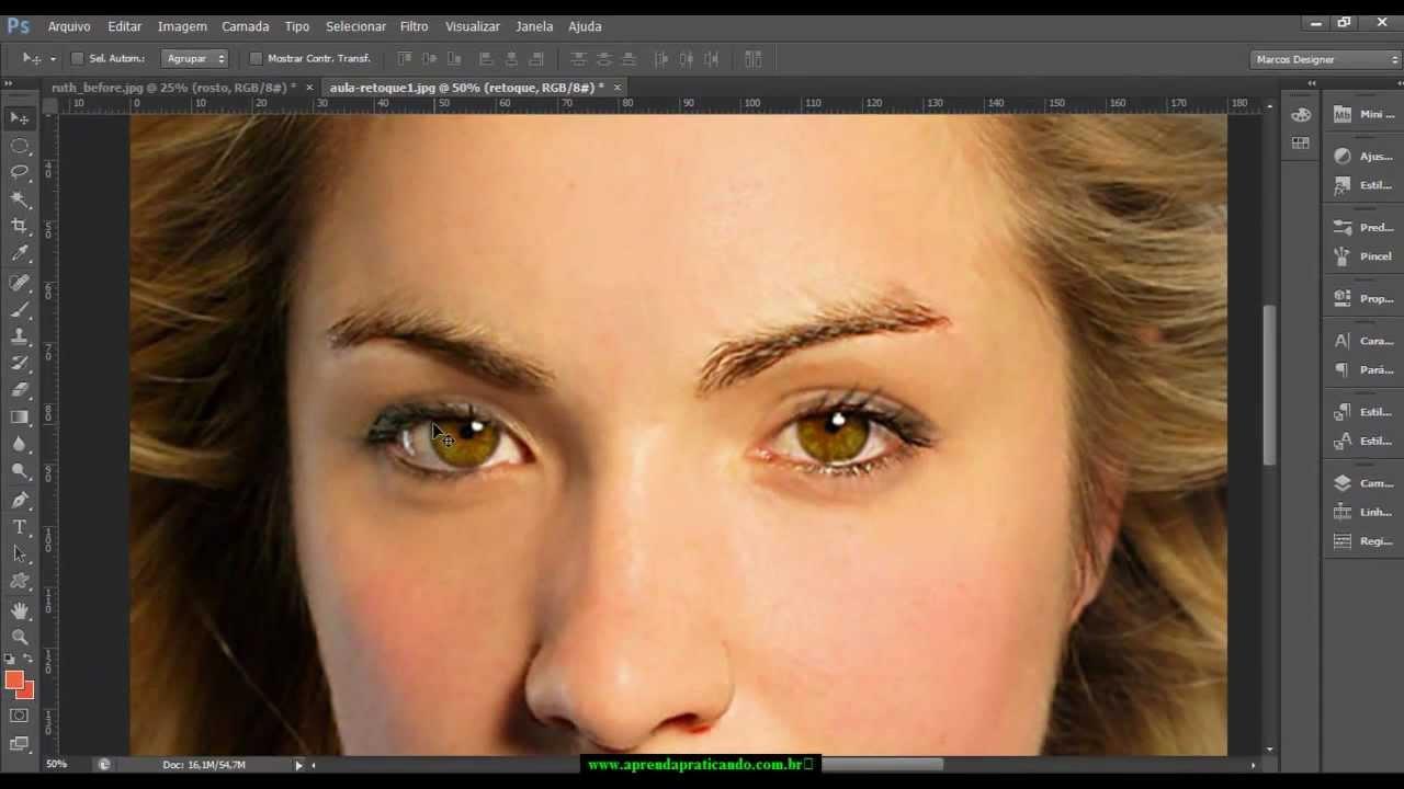 Video Aula 1 Maquiagem Digital Profissional Com Photoshop Cs6