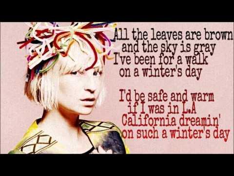 SIA - California Dreamin' - Song Lyrics