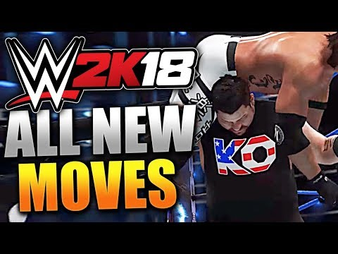 WWE 2K18 ALL NEW MOVES!! WWE 2K18 GAMEPLAY OF EVERY NEW MOVE! NEW SPEAR, RKO, DDT! (WWE 2K18)