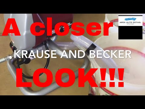 A Closer Look at the Krause and Becker 5/8 HP 3000 PSI Airless sprayer!!! Plus more ways to utilize!