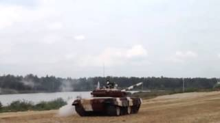 Russian Soldiers roll tank when attempting to drift