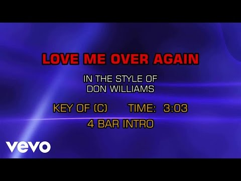 Don Williams - Love Me Over Again (Karaoke)