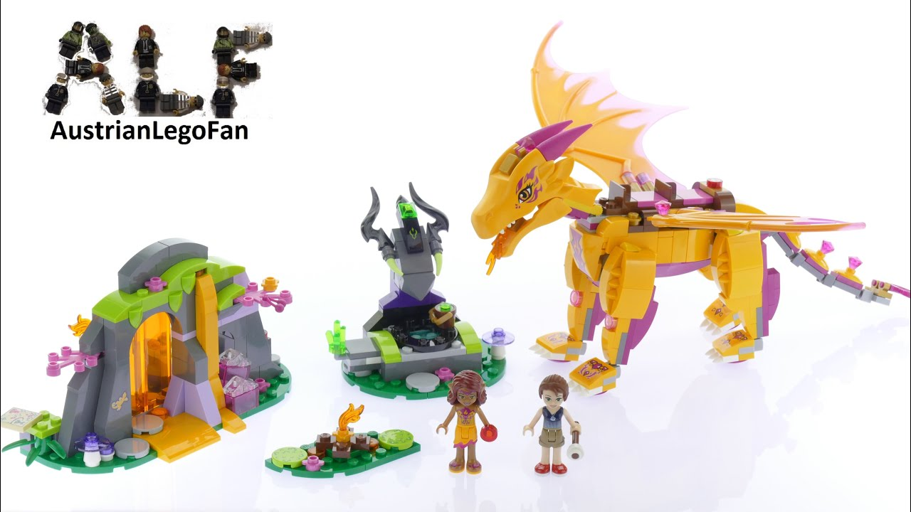 41175 >> Lego Elves 41175 Fire Dragon S Lava Cave Lego Speed Build Review