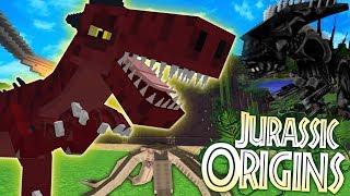 """Jurassic World Origins #29 """"ALIENS vs DINOS"""" (Dinosaur Mod Minecraft Roleplay)"""