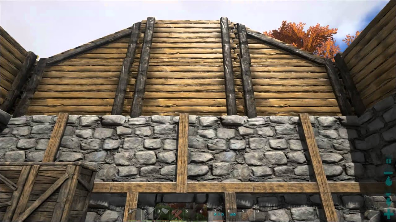 ark survival evolved ep 09 roofing and landscaping - Ark Sloped Roof