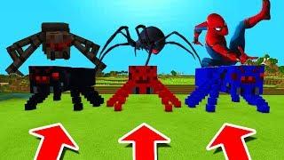 Minecraft PE : DO NOT CHOOSE THE WRONG SPIDER! (Mutant Spider, Black Widow & Spiderman)