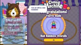 Webkinz Rad Rainbow Overalls Clothing Machine Recipe Solved