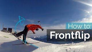 HOW TO FRONTFLIP OΝ SKIS
