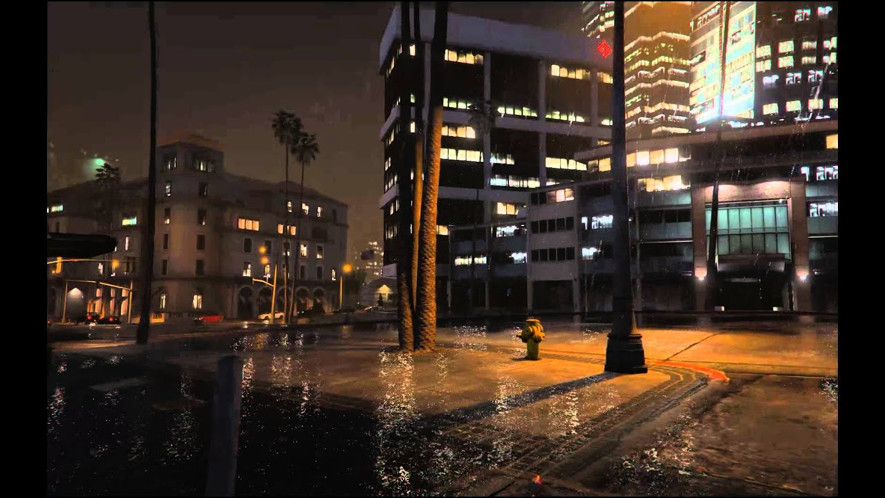 Grand Theft Auto 5 Car Wallpaper Gta V Pc Rain Soaked Los Santos At Night Youtube