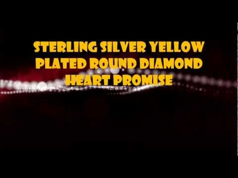 Sterling Silver Yellow Plated Round Diamond Heart Promise Review
