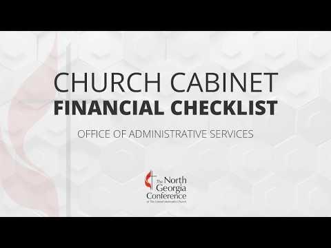 Finance Training: Church Financial Checklist