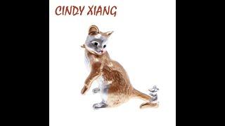 Женская эмалированная заколка cindy xiang забавная в форме кошки 2 цвета 2021 купить с Aliexpress