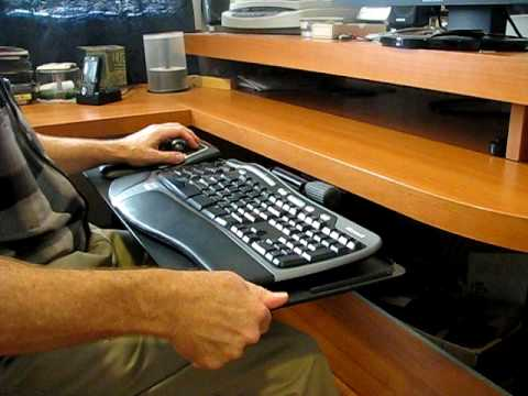 Ergonomic Keyboard Tray Youtube