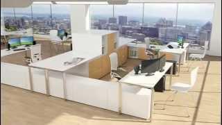 Kimball Office Furniture   Fluent, Modern Open Plan 640x368
