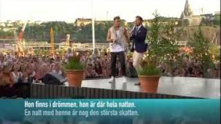Danny & Måns Zelmerlöw - Var Ska Vi Sova Inatt (Live Allsång På Skansen 2011)