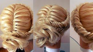 Причёска из косы + низкий пучок. Видео-урок. Hair tutorial.