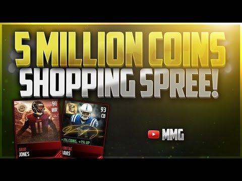 Building the Best Team - 5 MILLION COINS SHOPPING SPREE! Madden Mobile 17