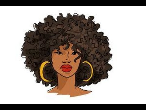 how to draw african american hair youtube