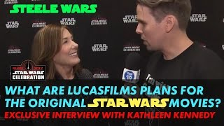 Kathleen Kennedy laughs off the idea of changing George Lucas's last edit - Steele Wars interview