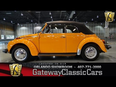 1979 Volkswagen Beetle Convertible Gateway Classic Cars Orlando #115