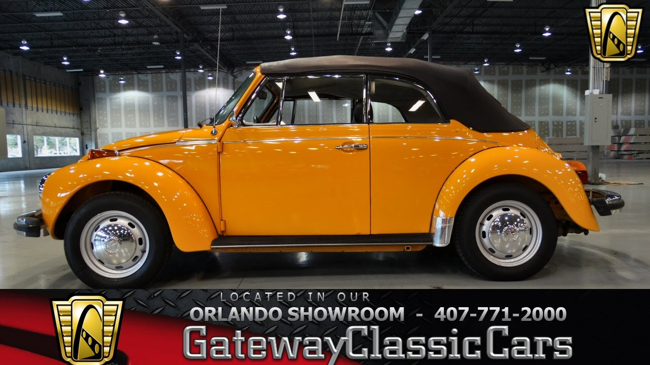 volkswagen beetle convertible gateway classic cars orlando  youtube