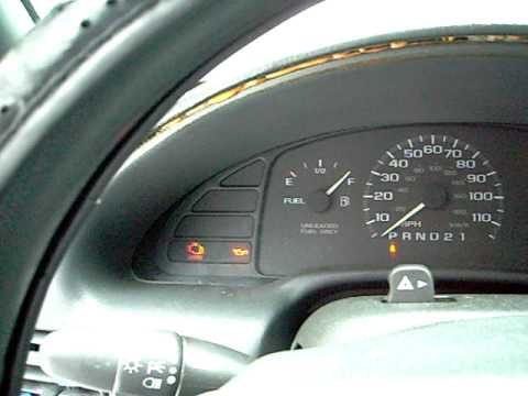 2000 chevy cavalier warning lights