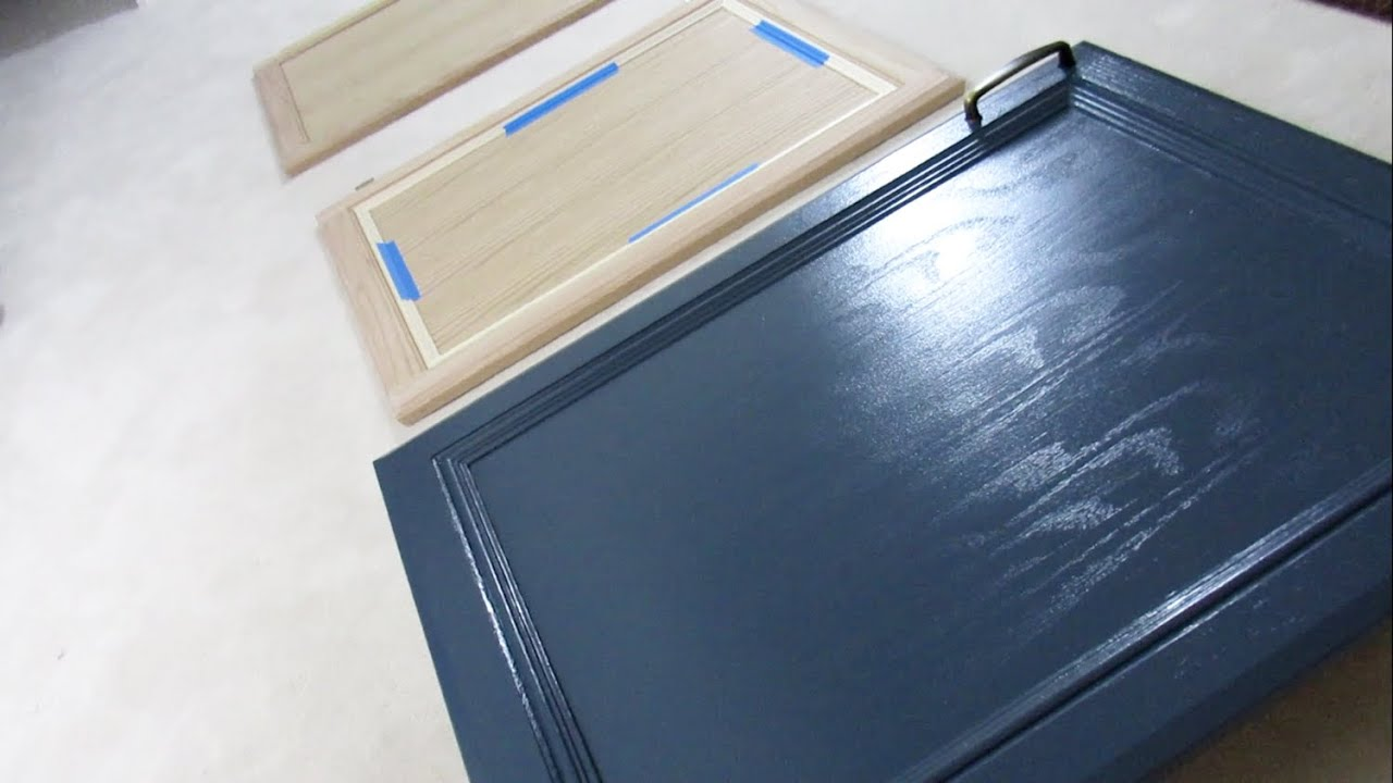 HOW TO MAKE PLAIN CABINET DOORS LOOK GOOD AND NEW!! - YouTube