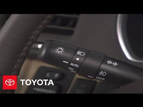 2007 2009 Highlander How To Fog Lamp Switch Toyota