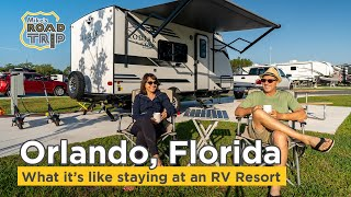 What it's like staying at an RV Resort - Thousand Trails Orlando vlog episode