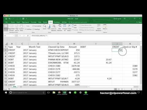 Clean up bank transaction data in Excel to build a pivot table report or import it into QuickBooks