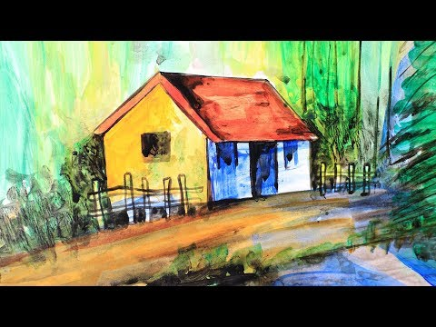 How to Paint a Beautiful Scenery Painting | Simple & Easy Landscape Paintings | Silly Kids