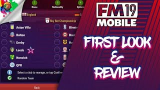Football Manager 2019 Mobile - First Look and In-depth Review