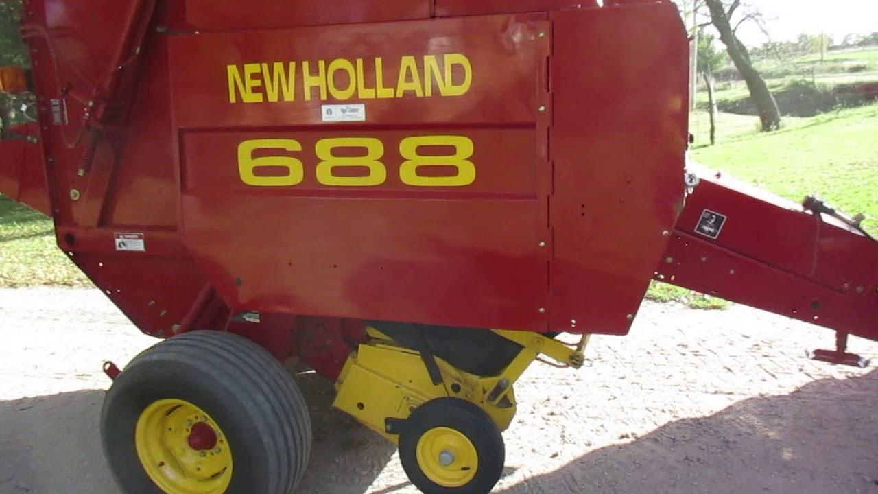 New Holland 688 Round Baler w/Net Wrap and Twine Tie