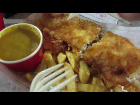 ASMR / Trying Harry Ramsden's FISH And Chips Food Review