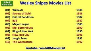 Wesley Snipes Movies List