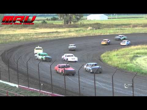 Hobby Stock Feature at the Iron Cup at Park Jefferson Speedway in Jefferson, SD on September 14th