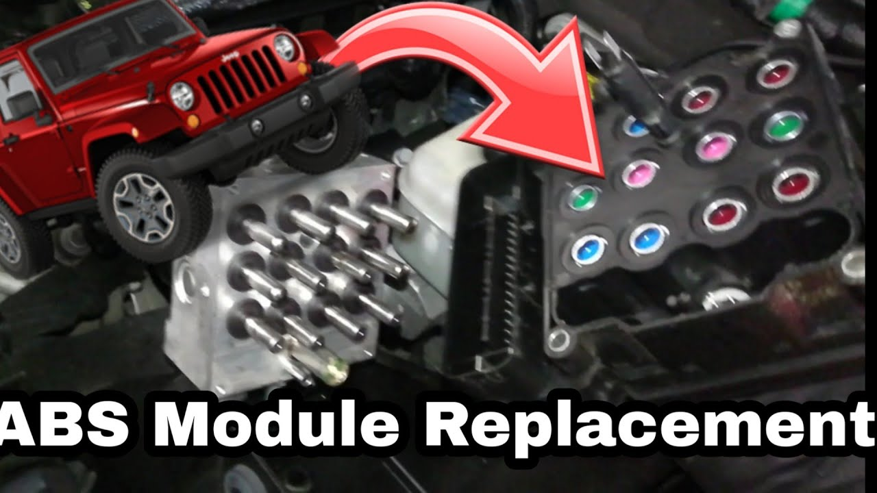 Jeep Wrangler Jk >> 07-18 JK Jeep Wrangler ABS Module How To Replace. Code C121C - YouTube