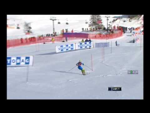 Maruša Ferk - 5th place, St.Moritz SC SL run 2012
