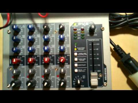 Peavey PV6 phantom power voltage
