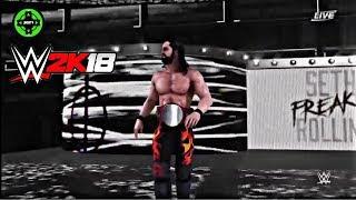 WWE 2K18 Seth Rollins New Attire Entrance Royal Rumble 2018!!