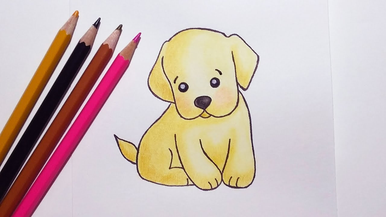How to Draw a Cute Puppy Easy - YouTube