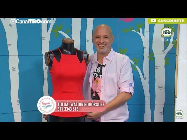 Diseño de blusa con corte francés por Diego Bohórquez
