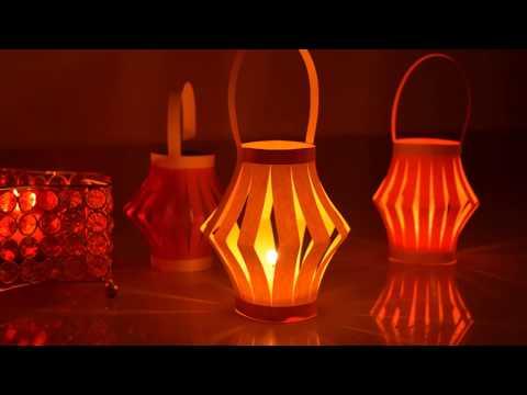 Easy Paper Lantern Decor for Diwali | Easy Paper Crafts for Diwali | #diydiwalicrafts
