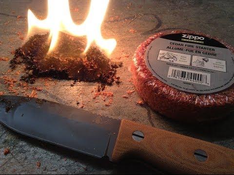 Testing the Zippo Cedar Fire Starter