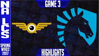 Team Liquid vs FlyQuest Highlights Game 3 - NA LCS W9D3 Spring 2017 - TL vs FLY G3