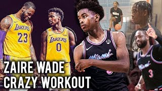 How Zaire Wade TRAINS To Play With BRONNY JAMES At Sierra Canyon!! Dwyane Wades SON Is READY TO DOMI